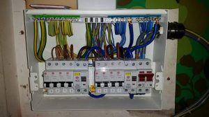 A typical modern domestic consumer unit